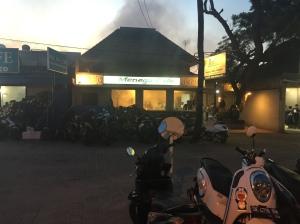 Getting ready for the BBQ - Jimbaran Bali